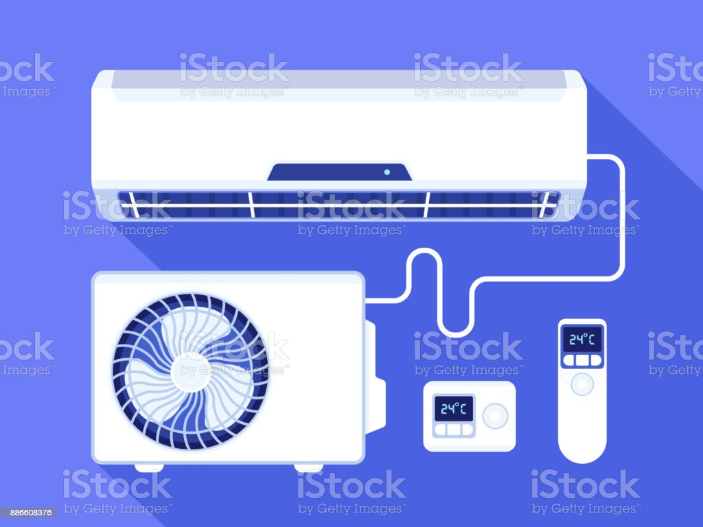 Astonishing Home Air Conditioning Control System Stock Vector Art More Images Wiring Cloud Hisonuggs Outletorg