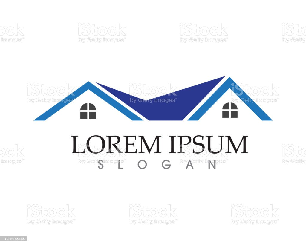 Home and building logo and symbol vector vector art illustration