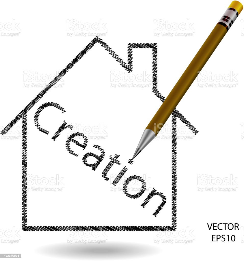 Home and Creation icon. royalty-free home and creation icon stock vector art & more images of beginnings