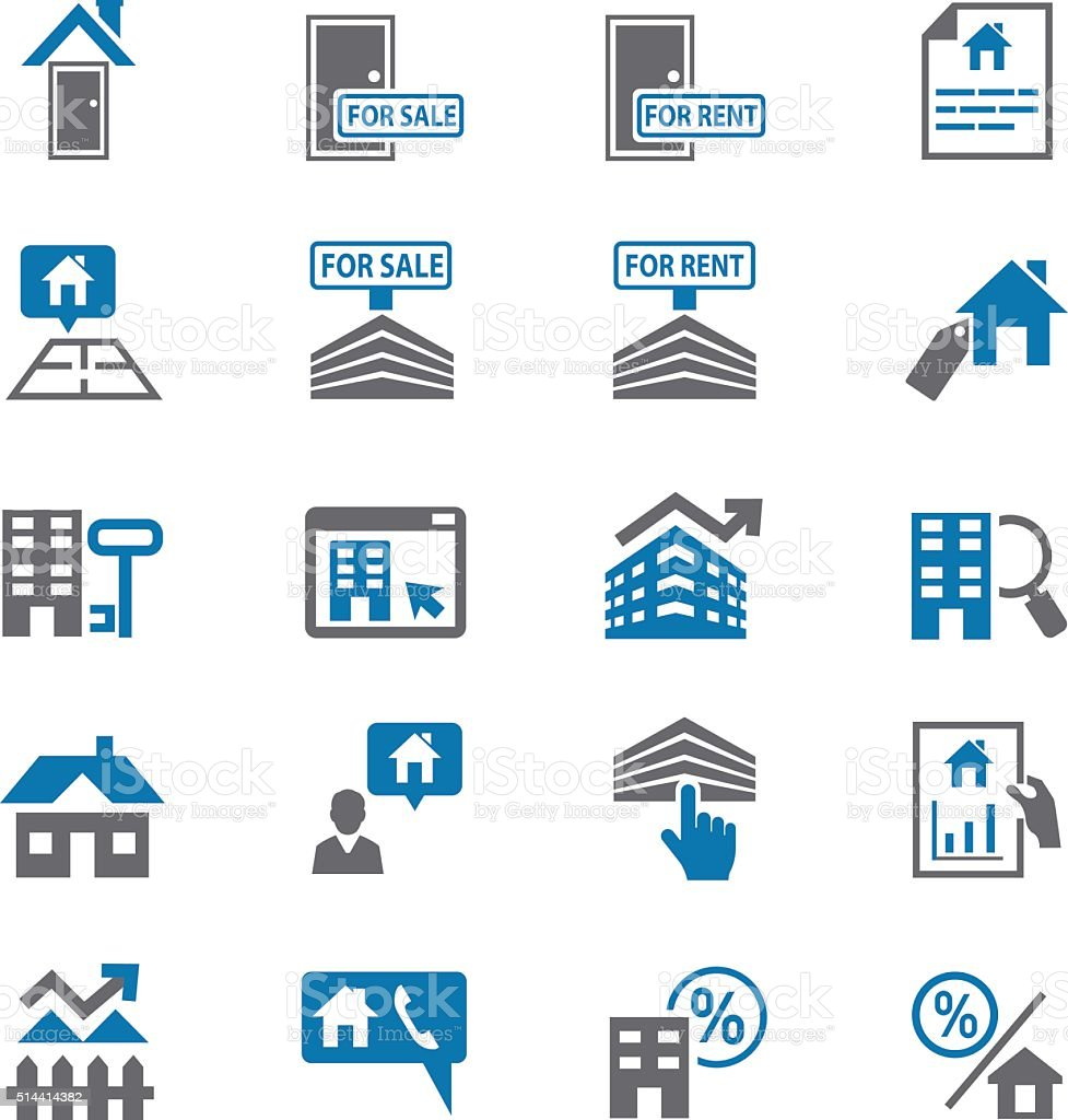 Finance Icon Set: Home And Finance Icon Set Stock Vector Art & More Images