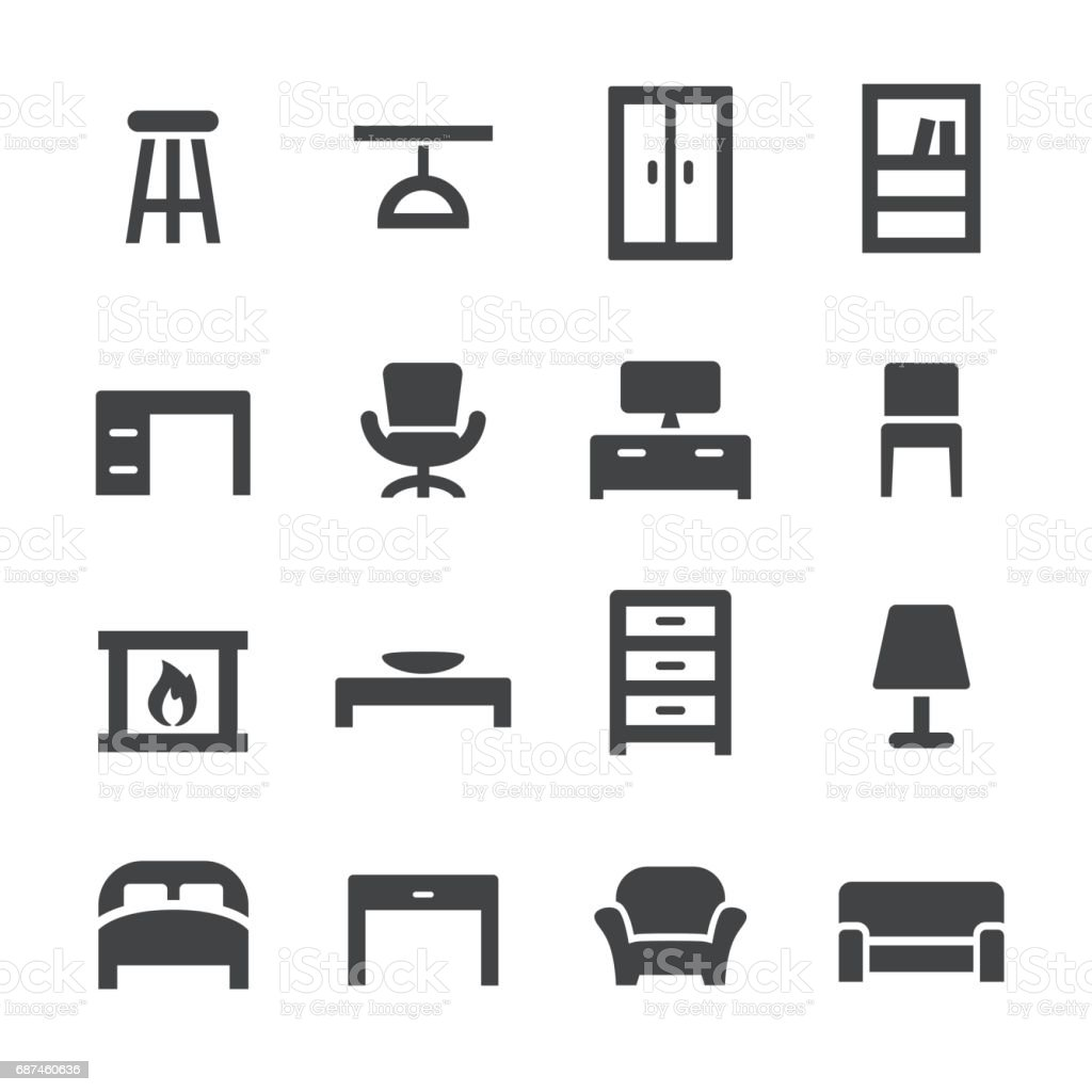 Home and Furniture Icons - Acme Series vector art illustration