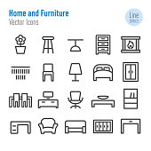Home and Furniture Icons - Vector Line Series