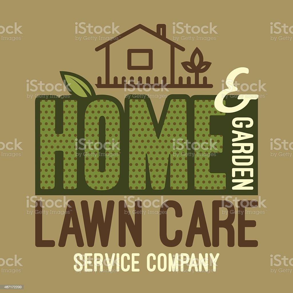 Home and garden lawn care t-shirt vector art illustration