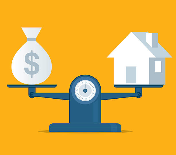Home and money vector art illustration