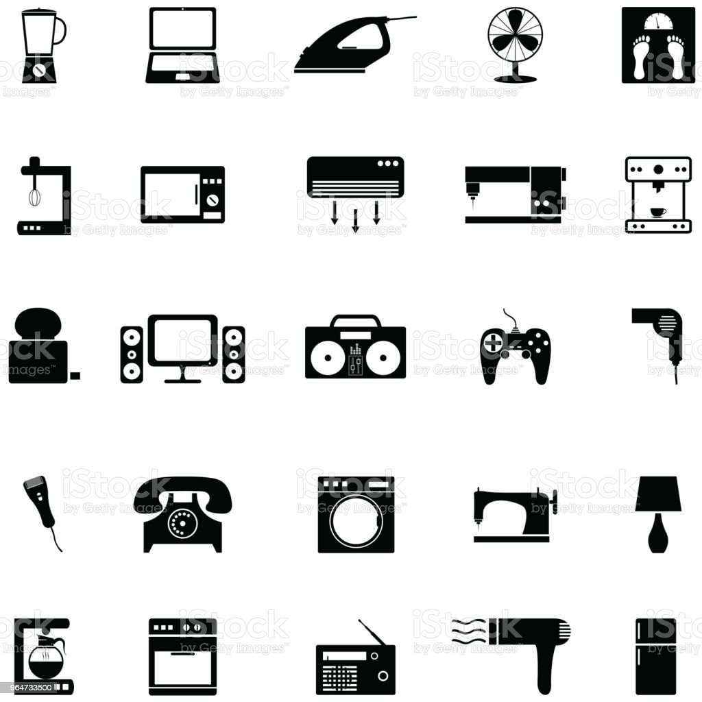 home appliance icon set royalty-free home appliance icon set stock vector art & more images of appliance