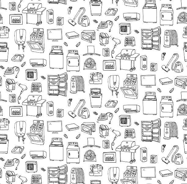 Home appliance vector art illustration