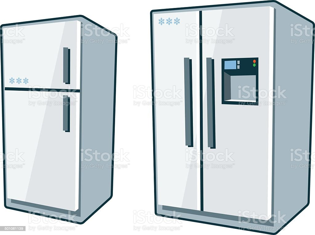 Home Appliances 1 - Refrigerators vector art illustration