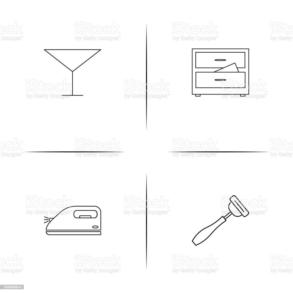 Nach Hause Geräte Und Ausrüstungeinfache Lineare Iconset Einfache ...