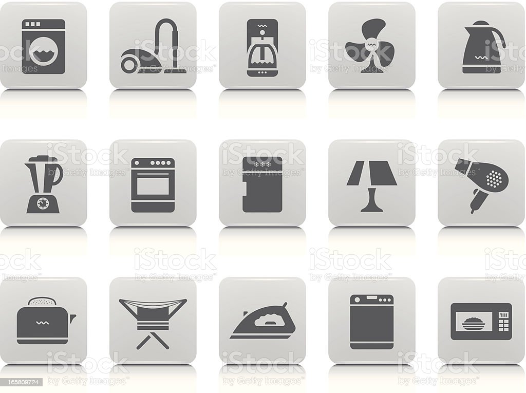 Home Appliances Icon Set royalty-free stock vector art