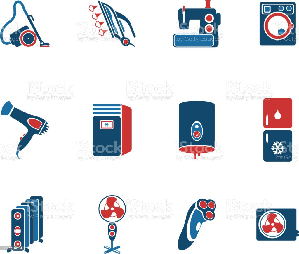 Home Appliances Icon Set royalty-free home appliances icon set stock vector art & more images of appliance