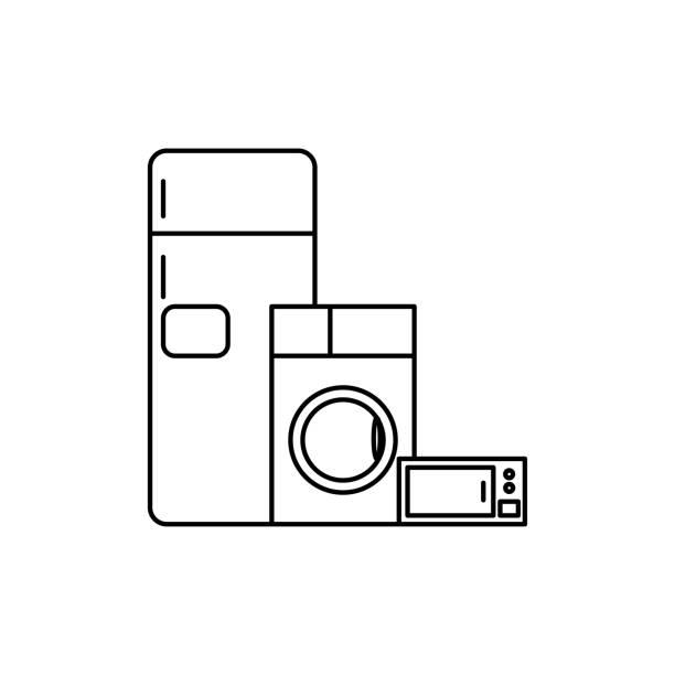 Icono de electrodomésticos - ilustración de arte vectorial