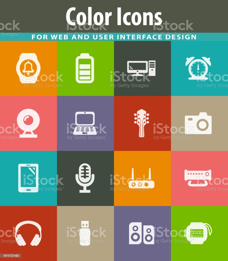 Home Appliances Icons Set Stock Vector Art & More Images of Alarm