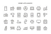 Home Appliances Icons - Vector EPS 10 File, Pixel Perfect 28 Icons.