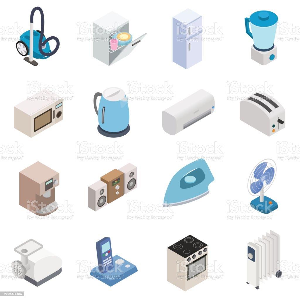 Home appliances icons home appliances icons - arte vetorial de stock e mais imagens de aspirador a vácuo royalty-free