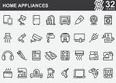 istock Home Appliances Line Icons 1214206804