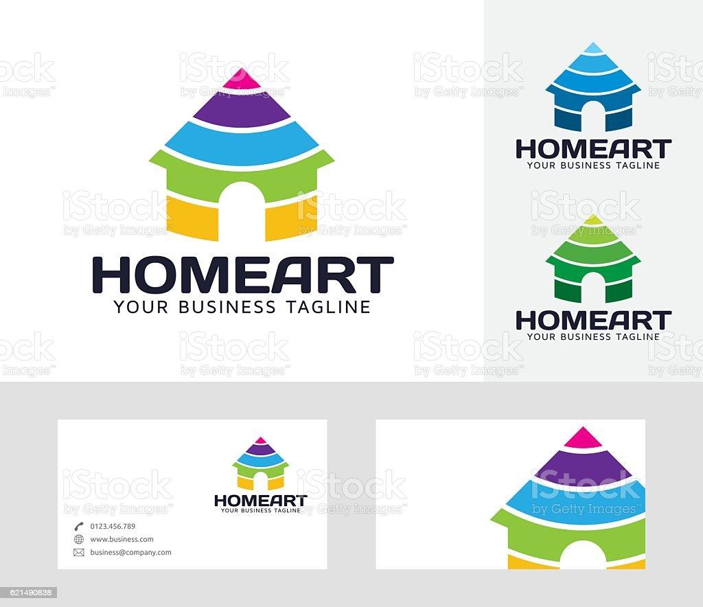 Home Art vector logo home art vector logo – cliparts vectoriels et plus d'images de affaires libre de droits