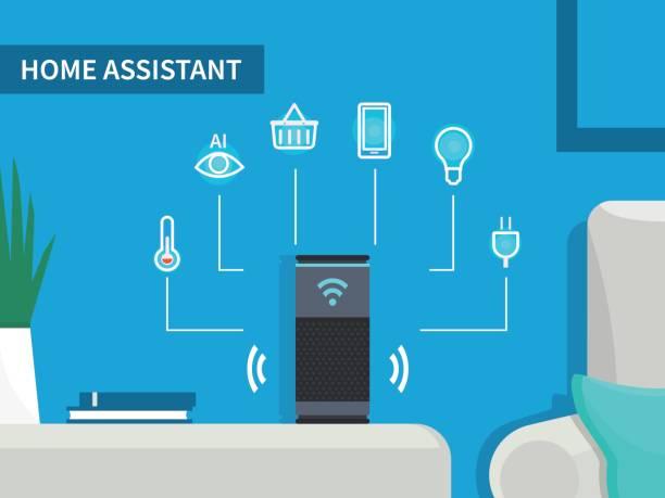 home-assistent - assistent stock-grafiken, -clipart, -cartoons und -symbole