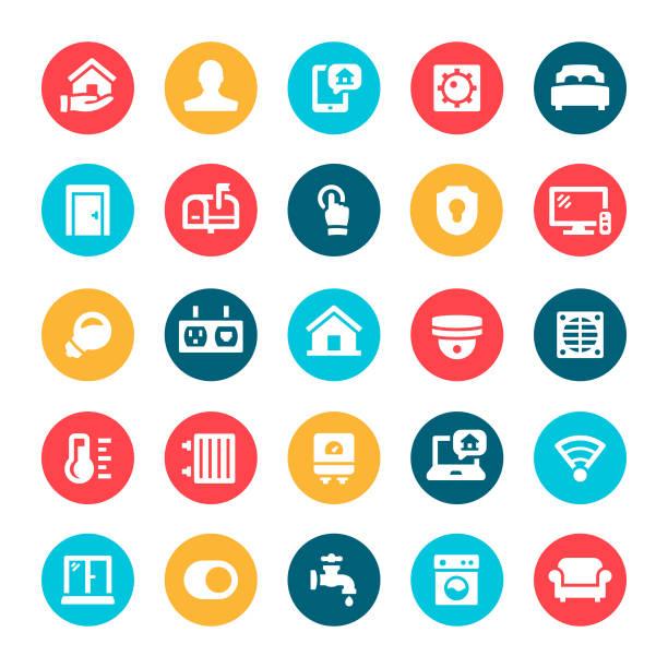 home automation symbole - küchensystem stock-grafiken, -clipart, -cartoons und -symbole