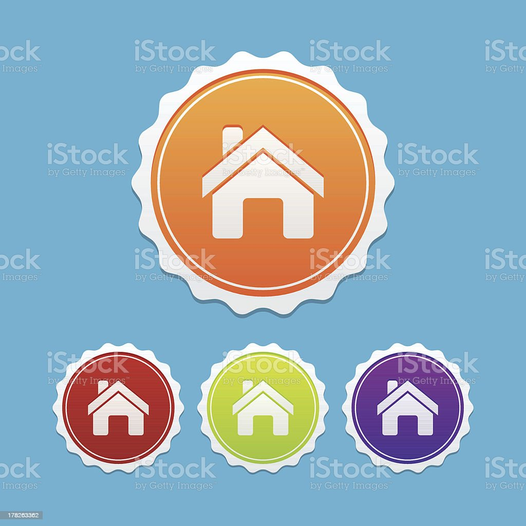 Home Badges royalty-free home badges stock vector art & more images of design