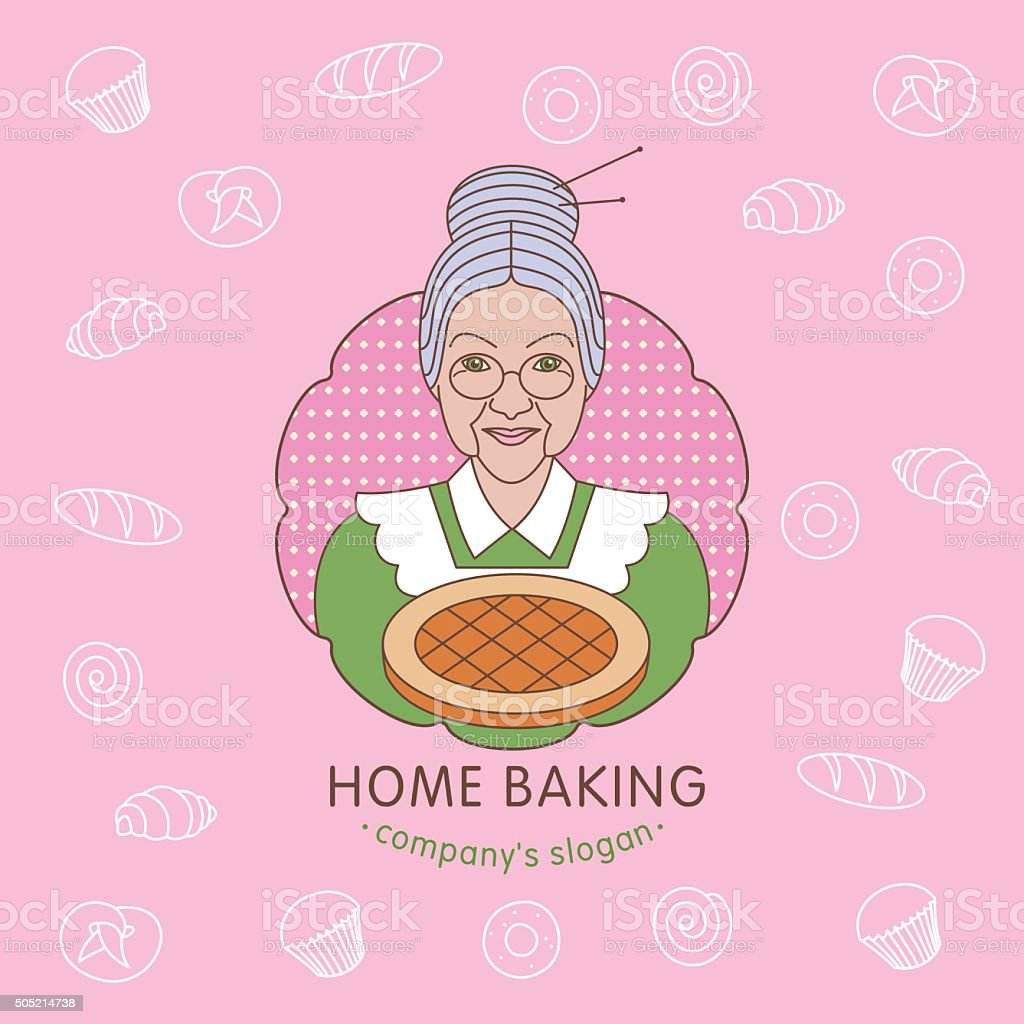 Home bakery. Vector logo. vector art illustration