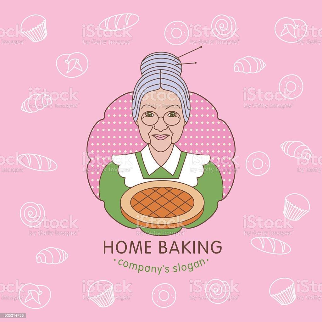 Casa panadería. Vector logo. - ilustración de arte vectorial