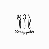 vector bakery label. Graphic icon for home baking. Monochrome kitchen attributes icon in hand draw, Doodle style.