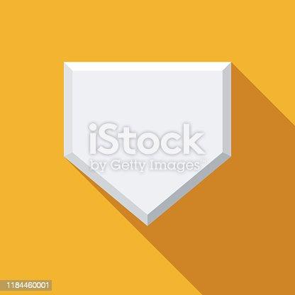istock Home Base Baseball Icon 1184460001