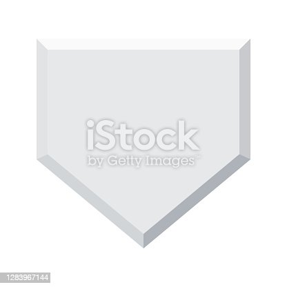 istock Home Base Icon on Transparent Background 1283967144