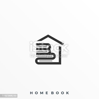 Home Book Illustration Vector Template. Suitable for Creative Industry, Multimedia, entertainment, Educations, Shop, and any related business.