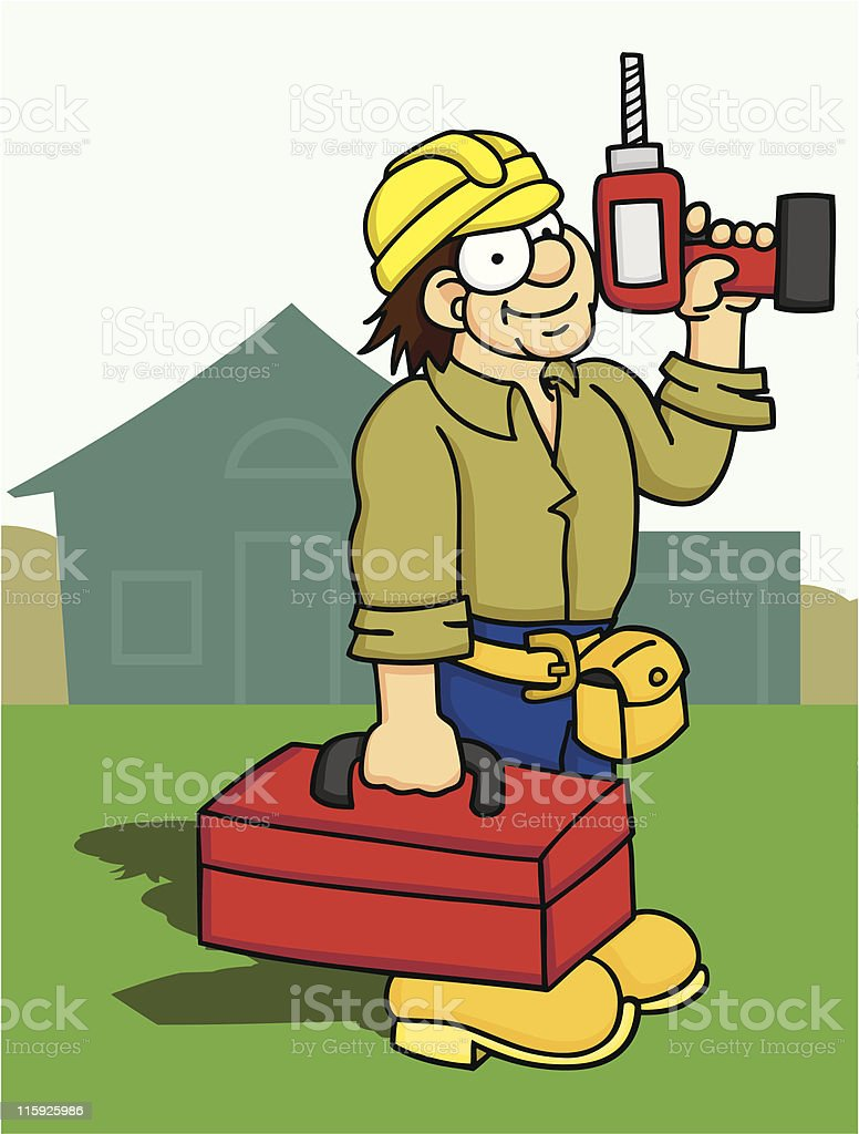 Home Builder royalty-free home builder stock vector art & more images of boot