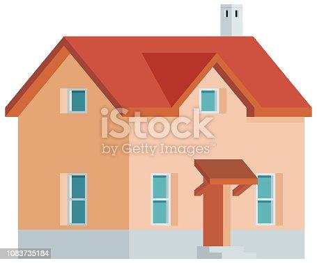 istock Home Building Vector Icon 1083735184