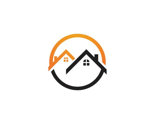 home buildings logo and symbols icons - real estate logos stock illustrations, clip art, cartoons, & icons