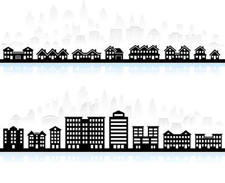 Home & Buildings royalty free vector interface icon set