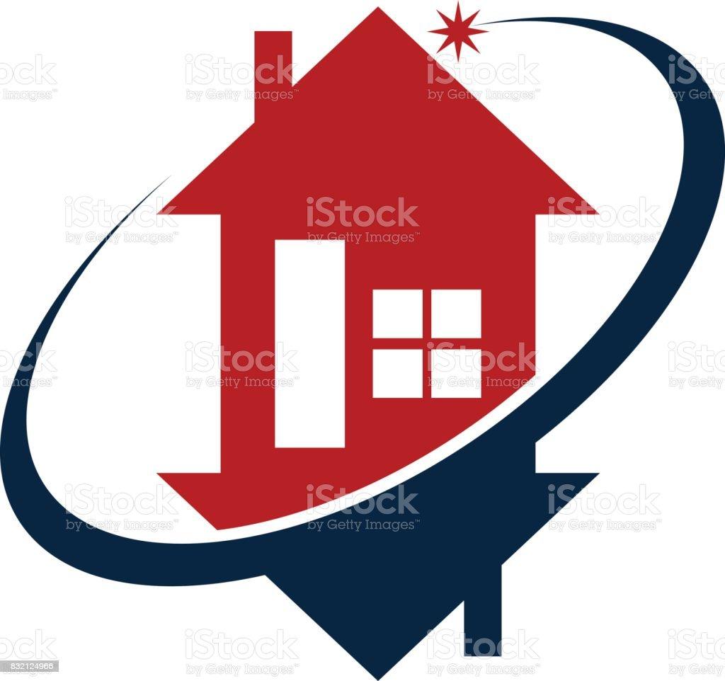 Home Buy Sell Solution vector art illustration