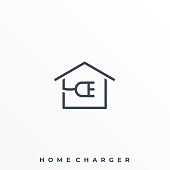 Home Charger Illustration Vector Template. Suitable for Creative Industry, Multimedia, entertainment, Educations, Shop, and any related business.