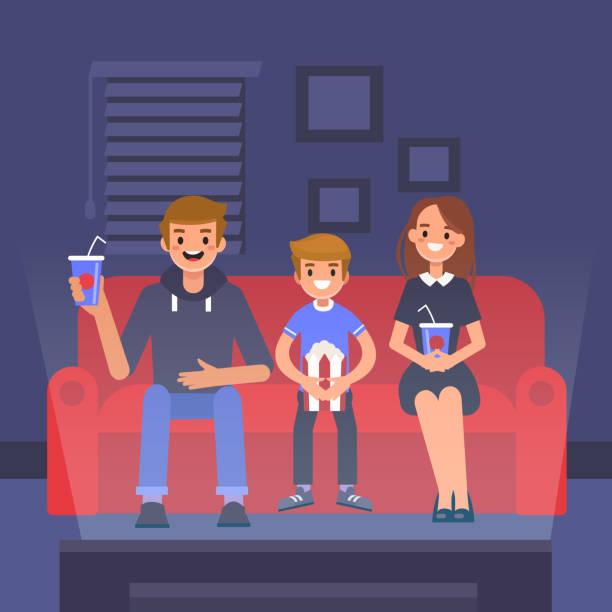 Home Cinema Vector Art Illustration