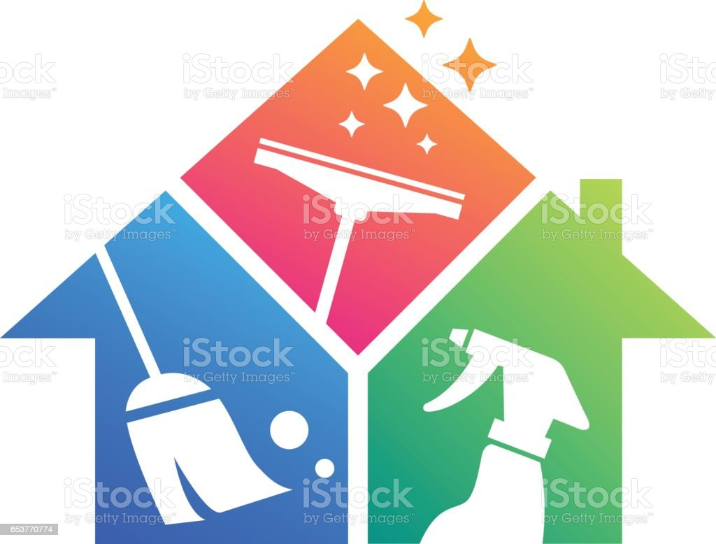 Home Cleaning. Cleaning Service. Building Cleaning vector art illustration