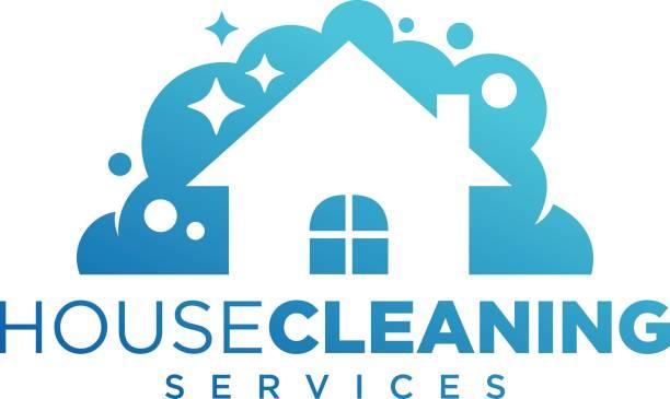 ilustrações, clipart, desenhos animados e ícones de limpeza em casa, a empresa de serviços de limpeza - trabalhador em casa