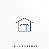 Home Clothes Illustration Vector Template. Suitable for Creative Industry, Multimedia, entertainment, Educations, Shop, and any related business.