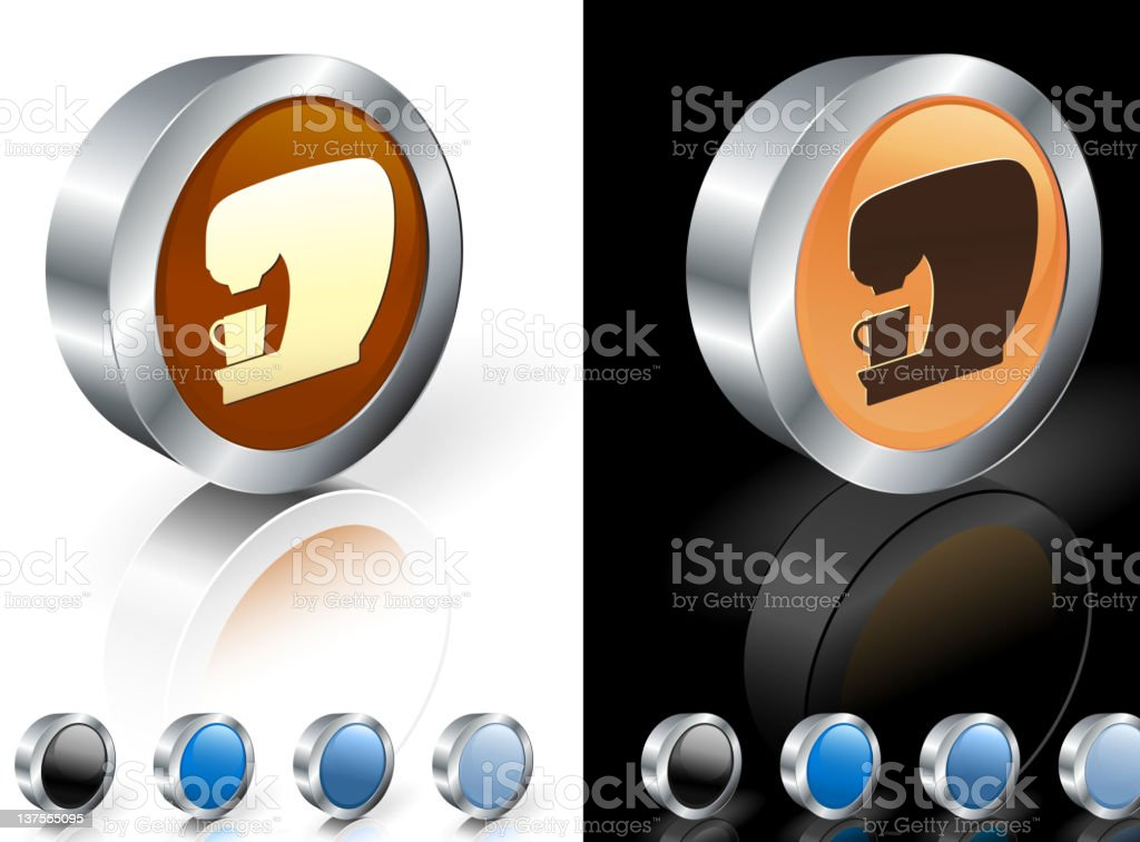 Home coffee maker 3D royalty free vector art royalty-free stock vector art