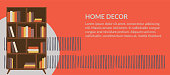 Banner with home decor or interior design icons