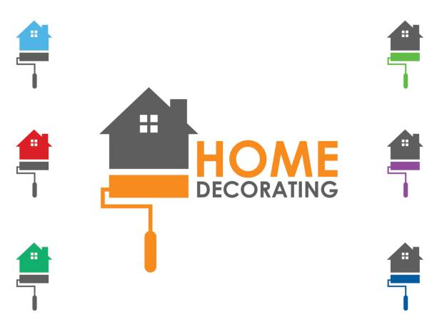 Home decoration icon Home decoration icon house painter stock illustrations