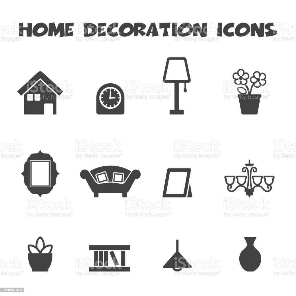 Merveilleux Home Decoration Icons Royalty Free Home Decoration Icons Stock Vector Art  U0026amp; More Images