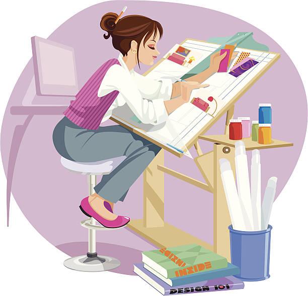 home decorator vector art illustration