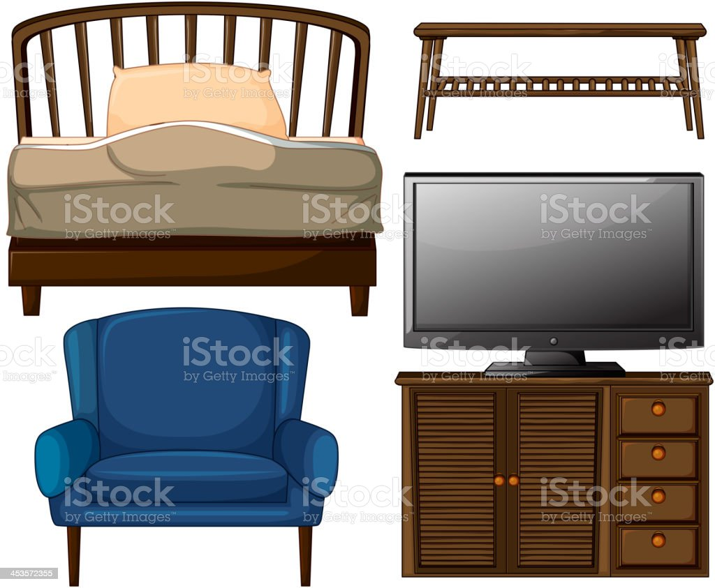 Home decors royalty-free stock vector art
