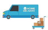 istock Home Delivery Vehicle 1224473194