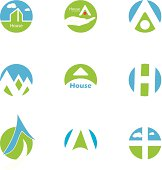 Home Design Icons Set isolated