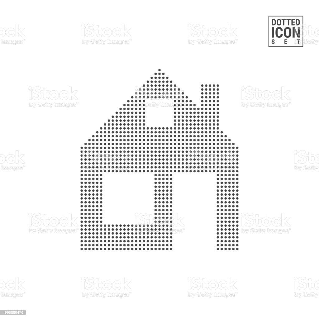 Ilustración de Icono De Patrón De Punto De Inicio Casa Puntos Icono ...