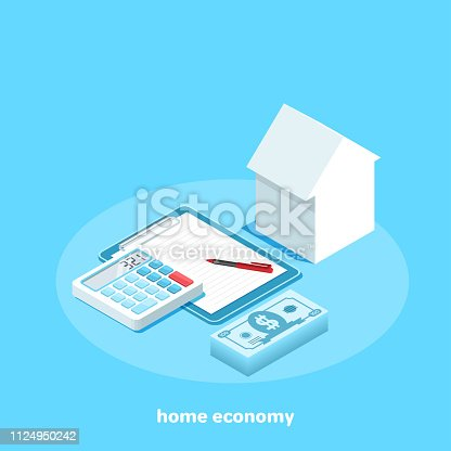 the purchase and rent of housing, the cost of housing, isometric image