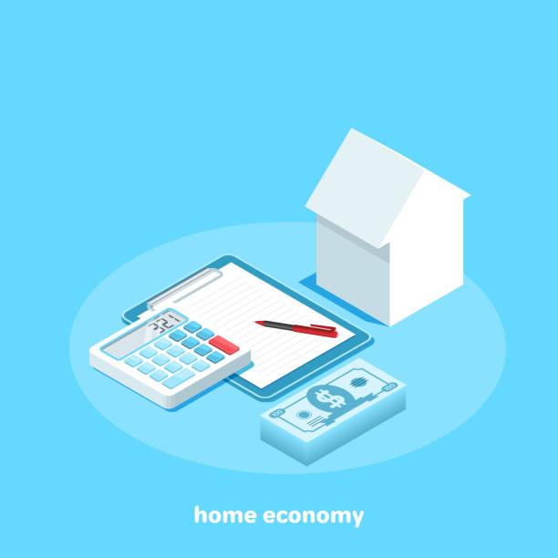 home economy vector art illustration